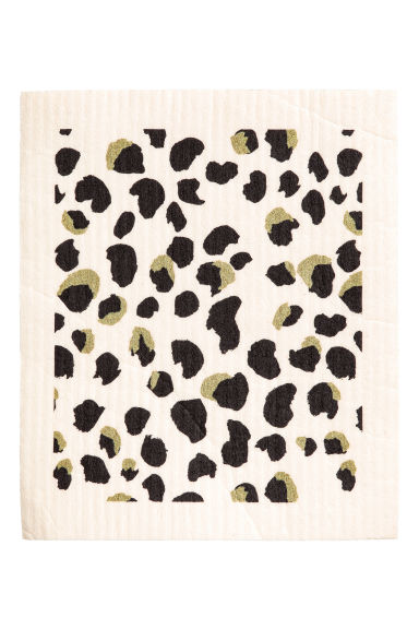 Dishcloth - White/Leopard print - Home All | H&M CA 1